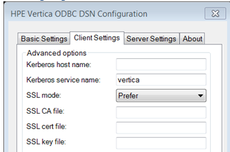 Configuring SSL for ODBC Clients